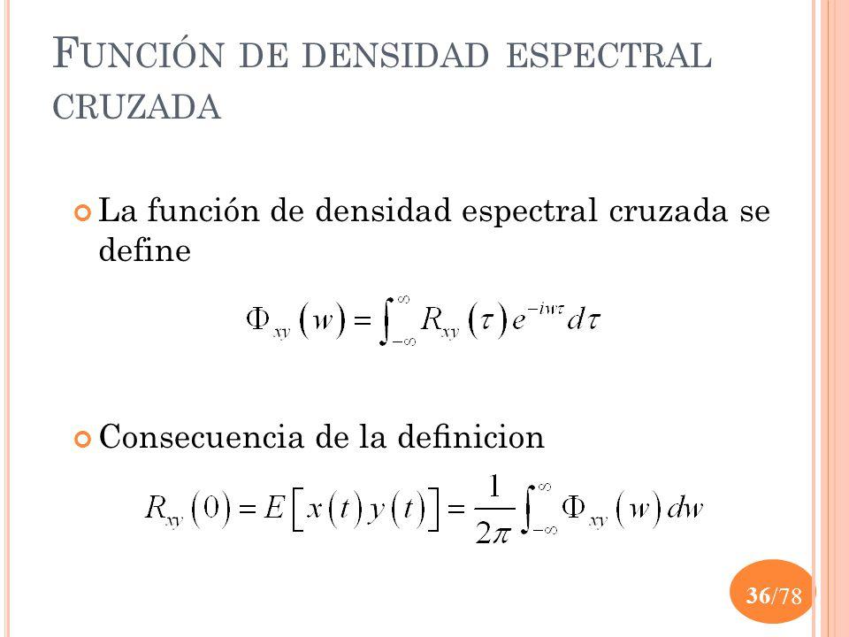 Función de densidad espectral cruzada