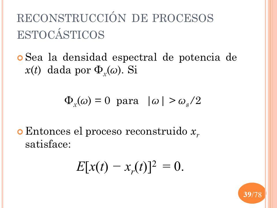 reconstrucción de procesos estocásticos