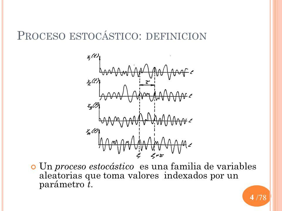 Proceso estocástico: definicion