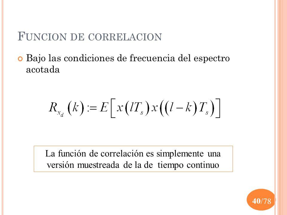 Funcion de correlacion