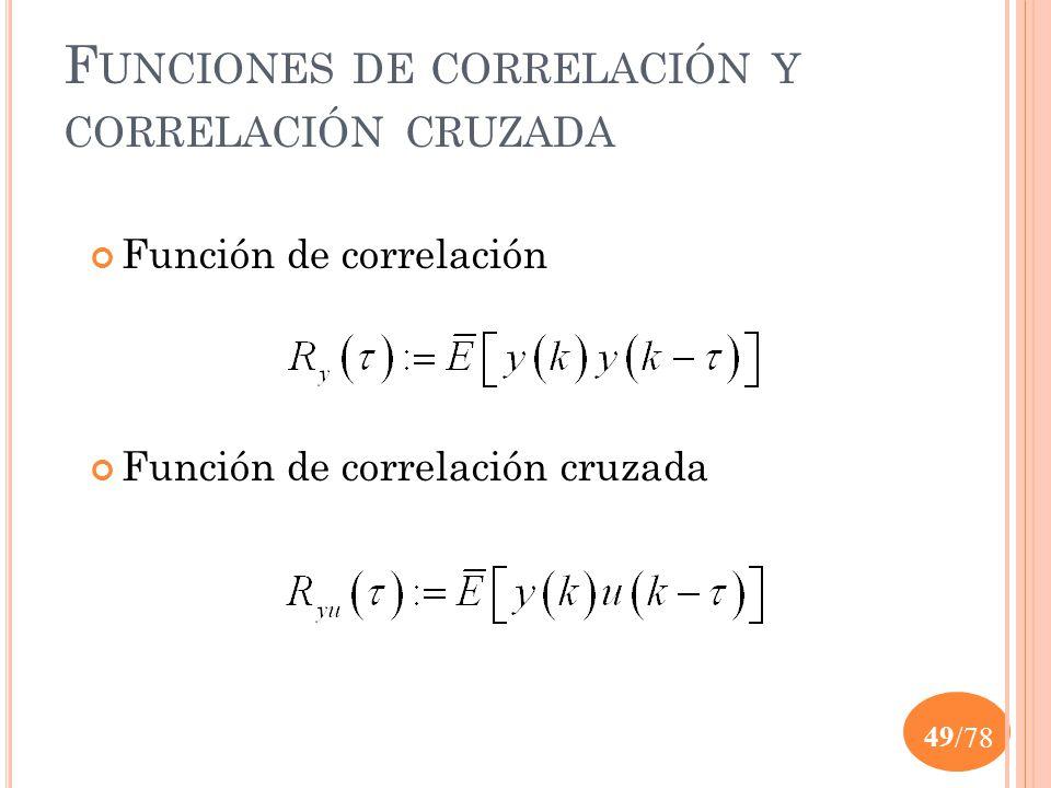 Funciones de correlación y correlación cruzada