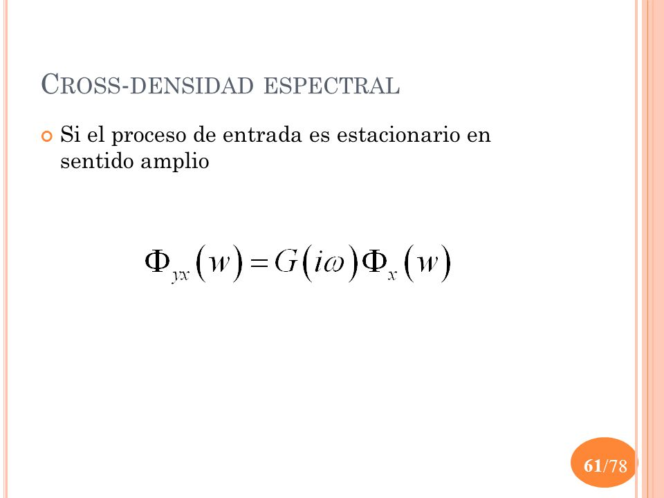 Cross-densidad espectral