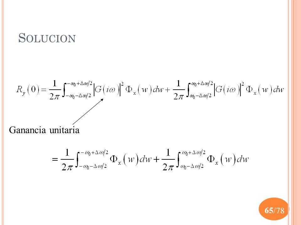 Solucion Ganancia unitaria