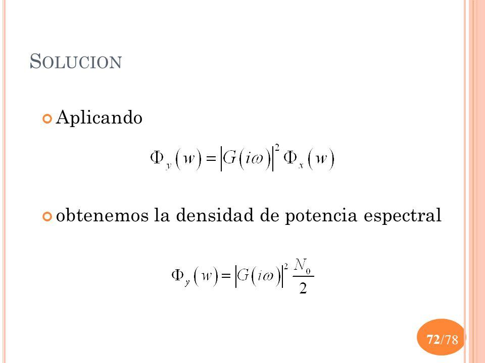 Solucion Aplicando obtenemos la densidad de potencia espectral