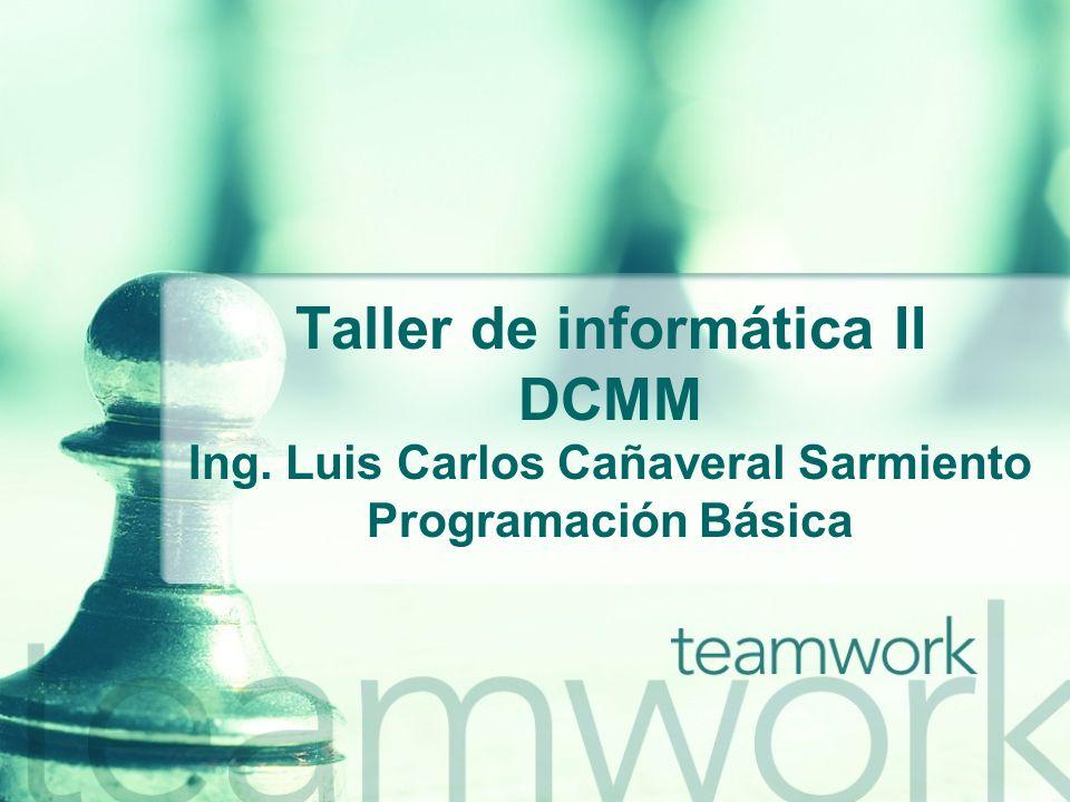 Taller de informática II DCMM Ing