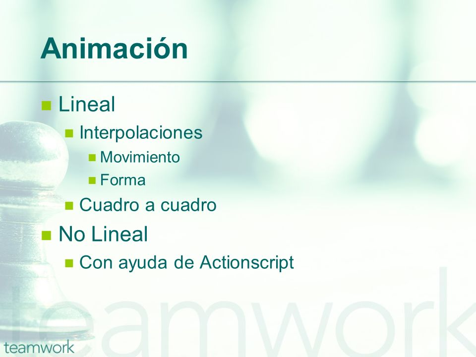 Animación Lineal No Lineal Interpolaciones Cuadro a cuadro