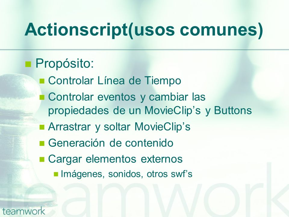 Actionscript(usos comunes)