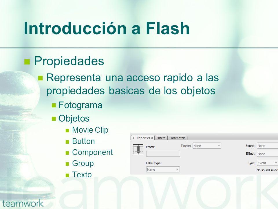 Introducción a Flash Propiedades