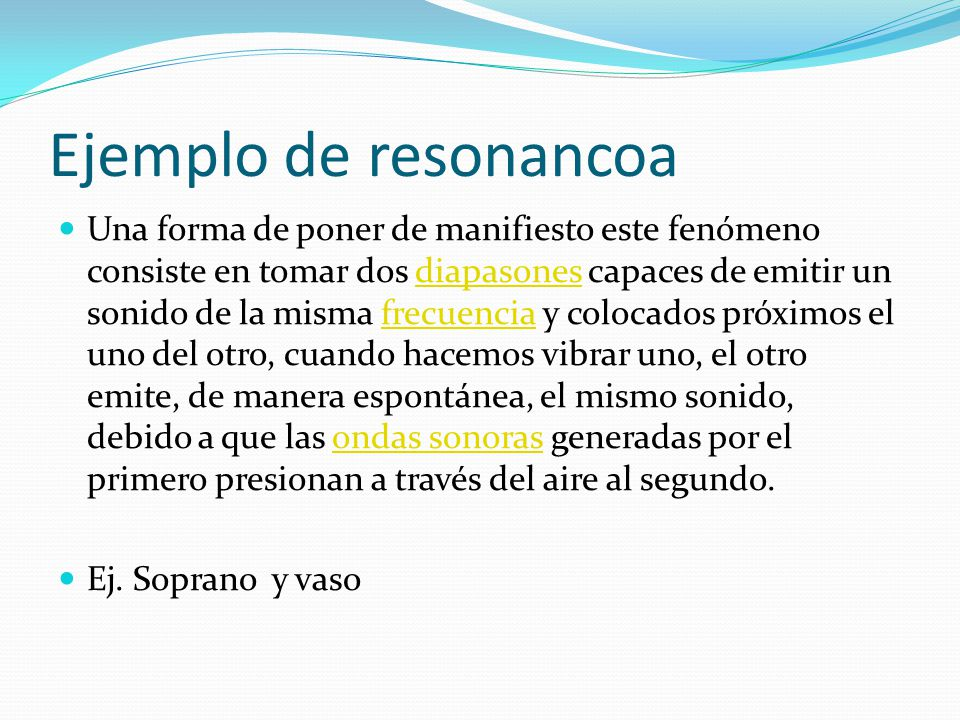 Ejemplo de resonancoa