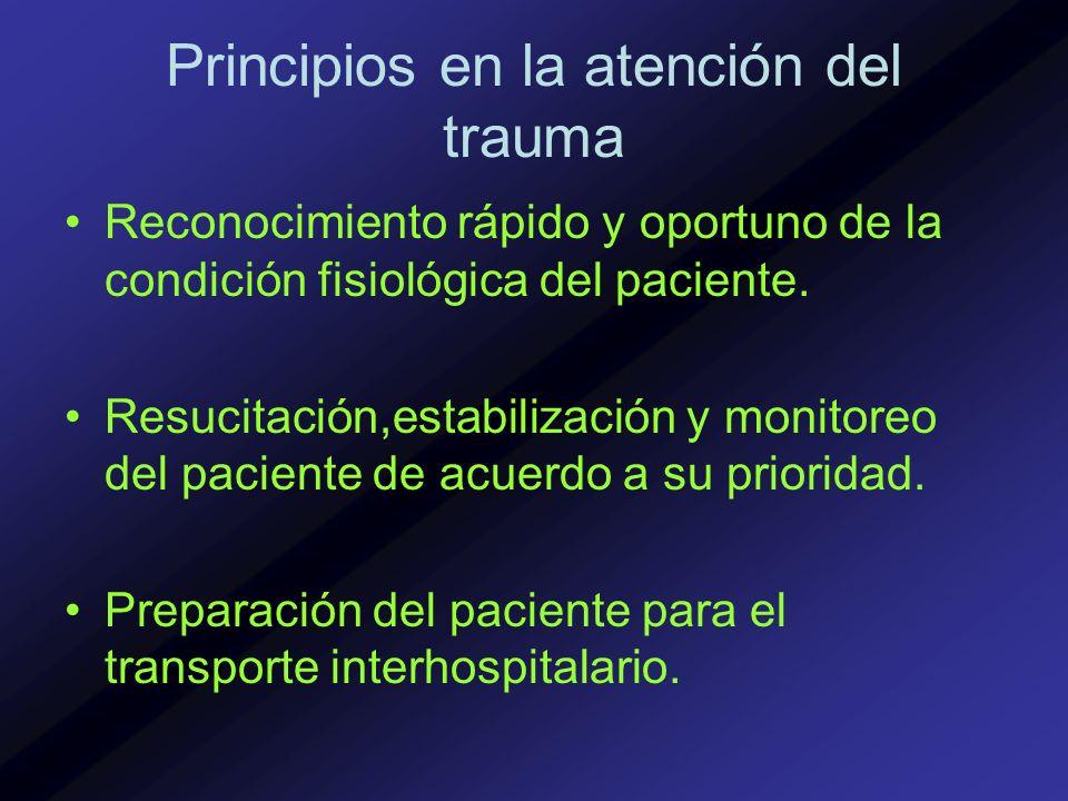 Principios en la atención del trauma