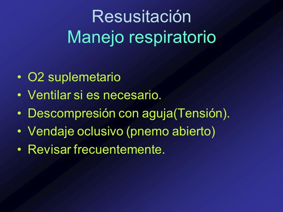 Resusitación Manejo respiratorio