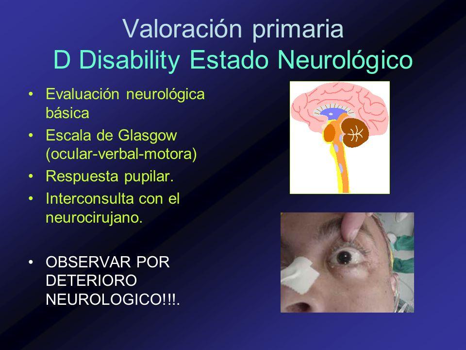 Valoración primaria D Disability Estado Neurológico