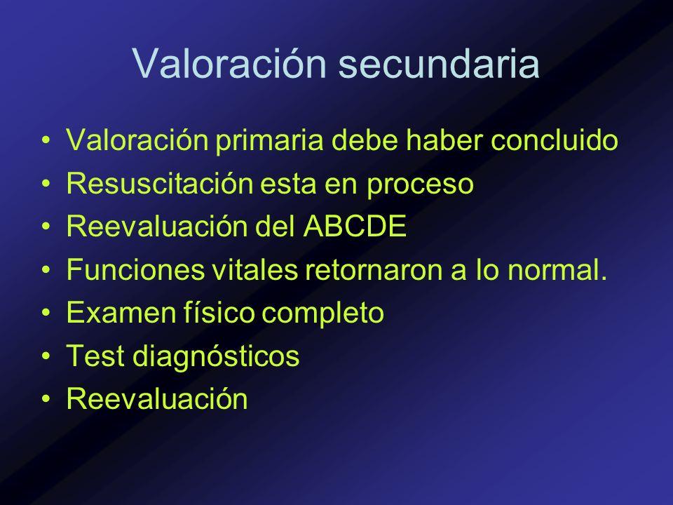 Valoración secundaria