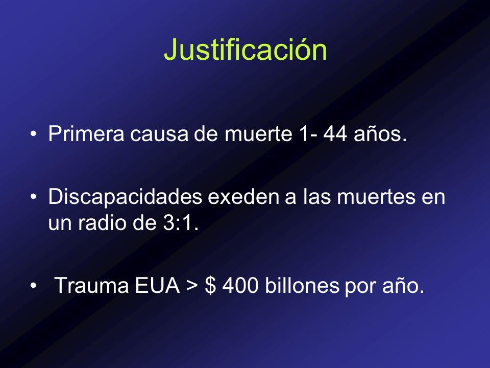 Justificación Primera causa de muerte 1- 44 años.