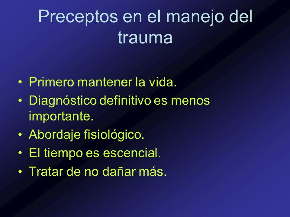 Preceptos en el manejo del trauma
