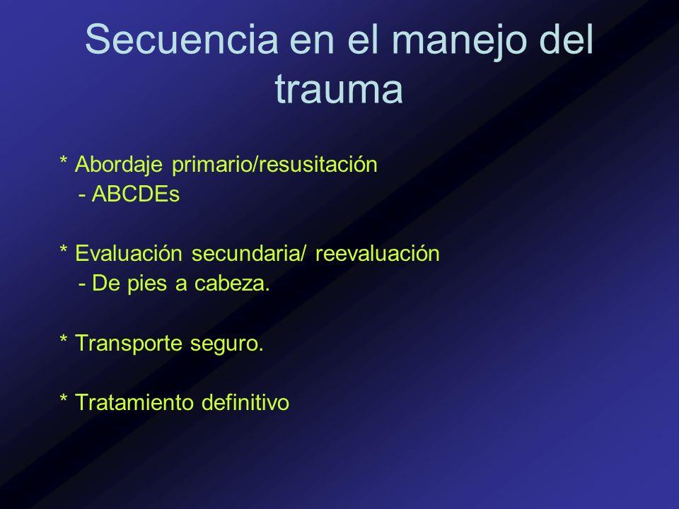 Secuencia en el manejo del trauma