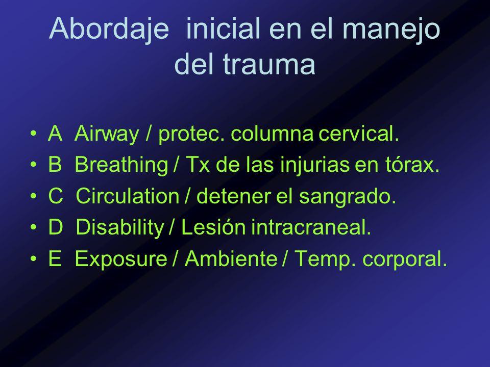 Abordaje inicial en el manejo del trauma