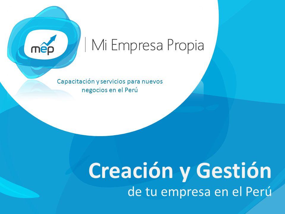 Capacitación y servicios para nuevos negocios en el Perú