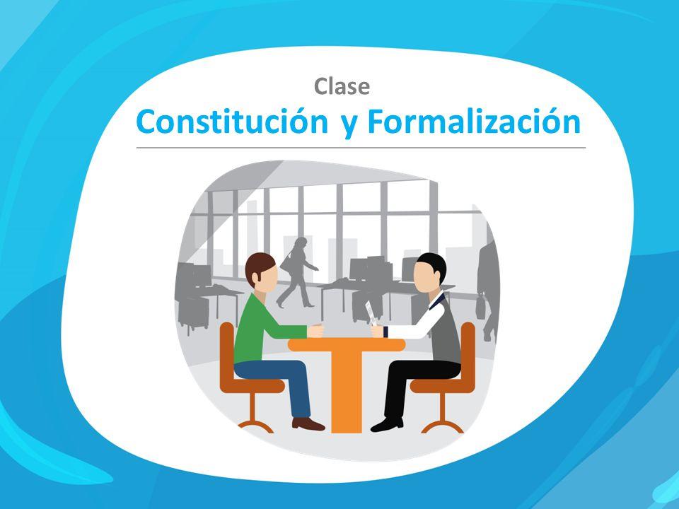 Constitución y Formalización