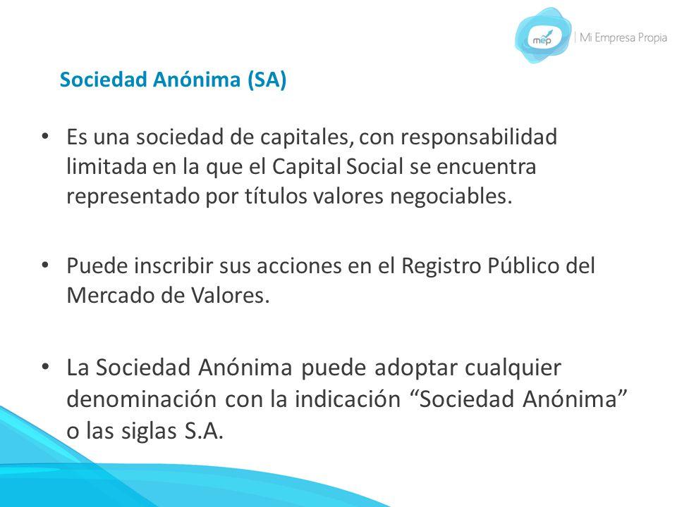 Sociedad Anónima (SA)