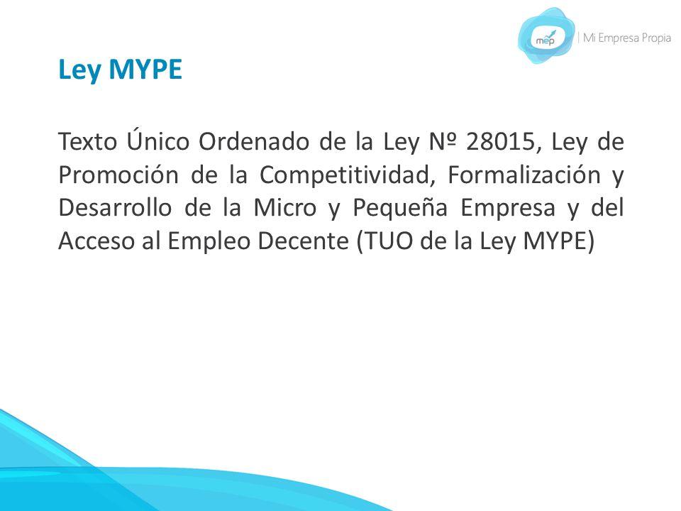 Ley MYPE
