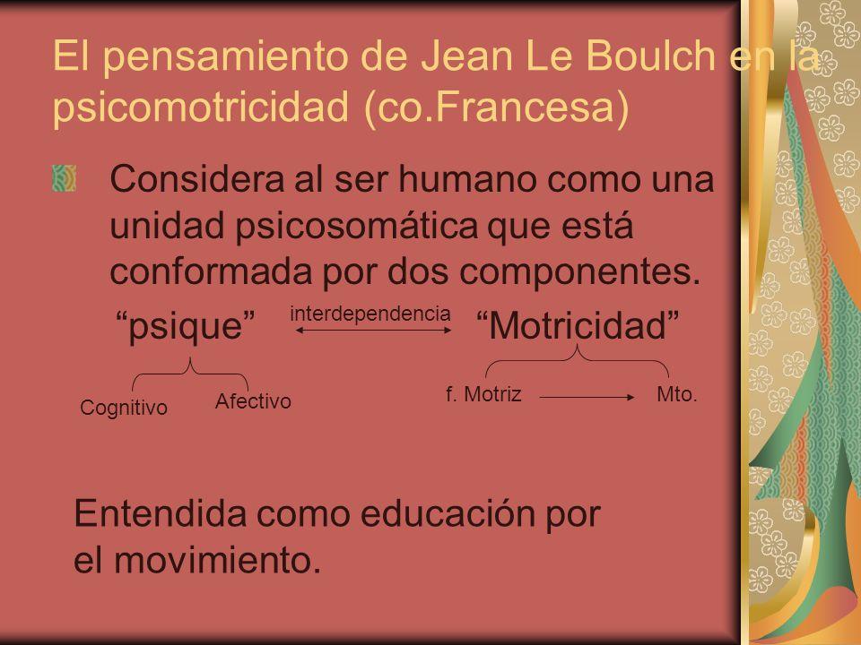 El pensamiento de Jean Le Boulch en la psicomotricidad (co.Francesa)