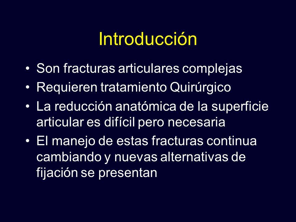 Introducción Son fracturas articulares complejas
