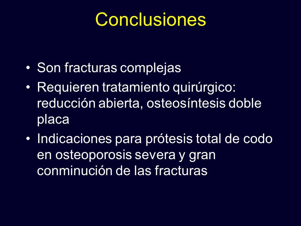 Conclusiones Son fracturas complejas