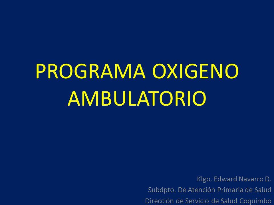 PROGRAMA OXIGENO AMBULATORIO
