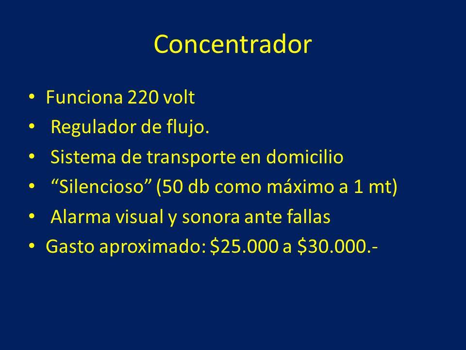 Concentrador Funciona 220 volt Regulador de flujo.