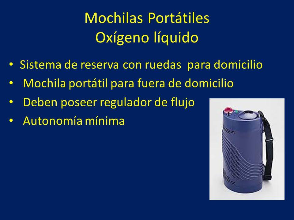 Mochilas Portátiles Oxígeno líquido