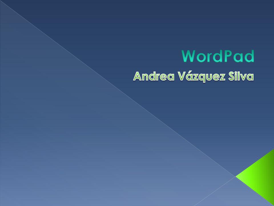 WordPad Andrea Vázquez Silva