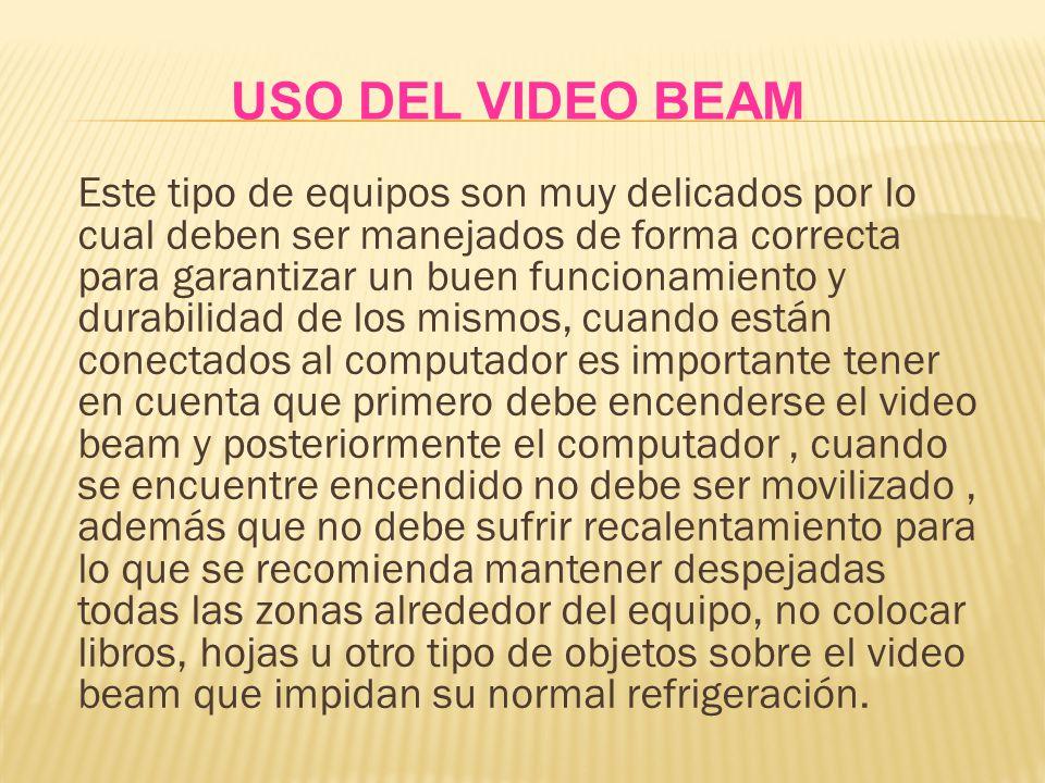 USO DEL VIDEO BEAM