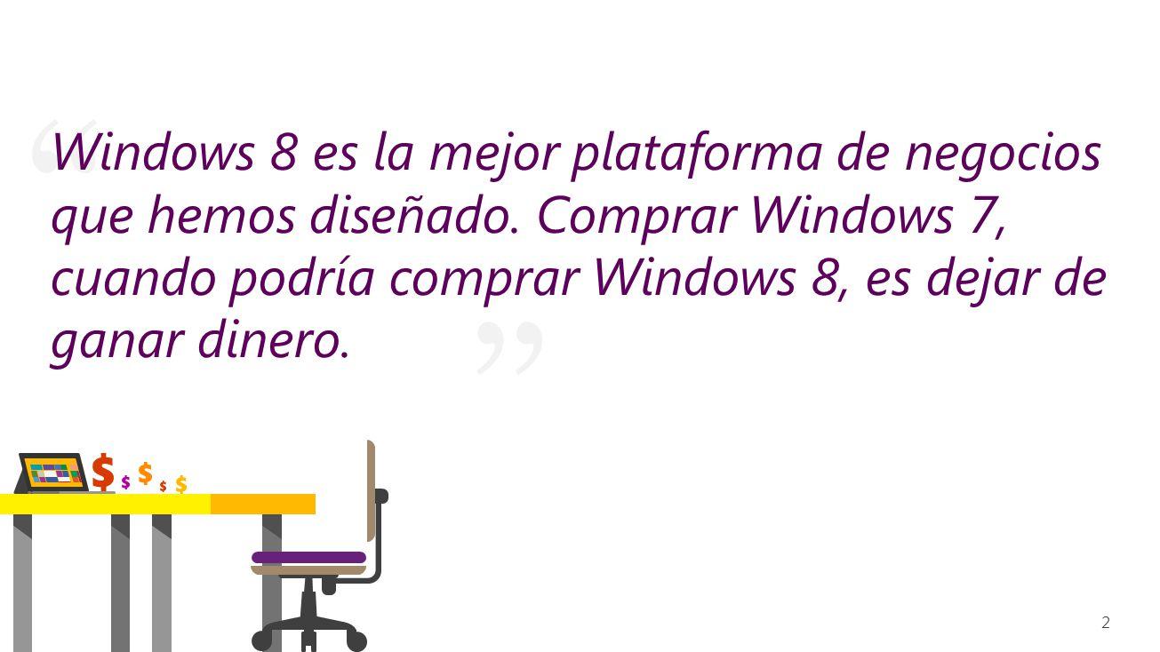 Windows 8 es la mejor plataforma de negocios que hemos diseñado