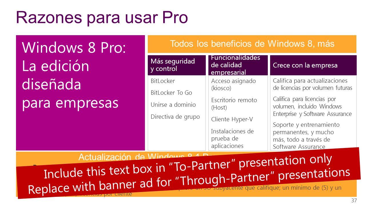 Razones para usar Pro Windows 8 Pro: La edición diseñada para empresas