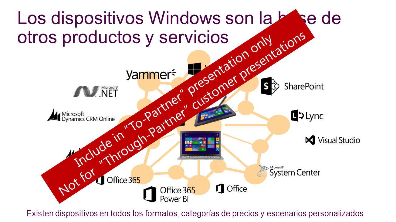 Los dispositivos Windows son la base de otros productos y servicios
