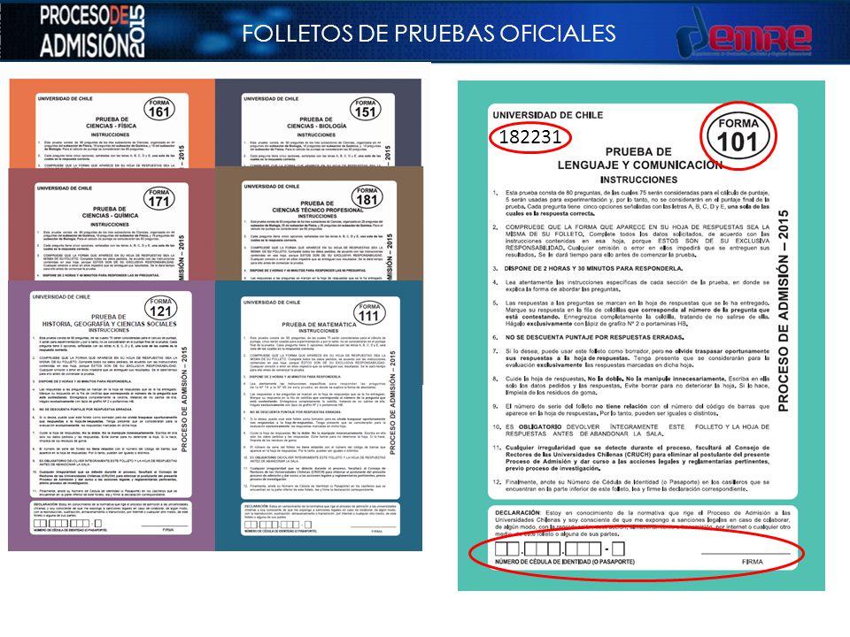 FOLLETOS DE PRUEBAS OFICIALES