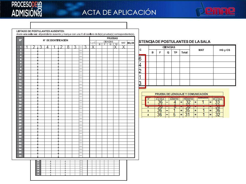 ACTA DE APLICACIÓN 36 4 32 1 33 1 2 3 4 1 2 8 3 3 X X X