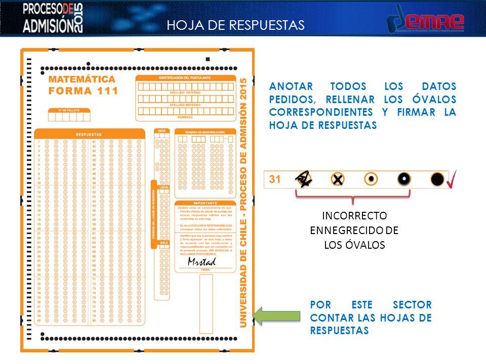 INCORRECTO ENNEGRECIDO DE LOS ÓVALOS