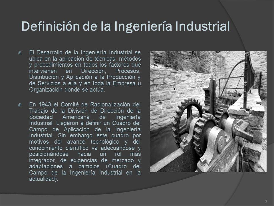Definición de la Ingeniería Industrial
