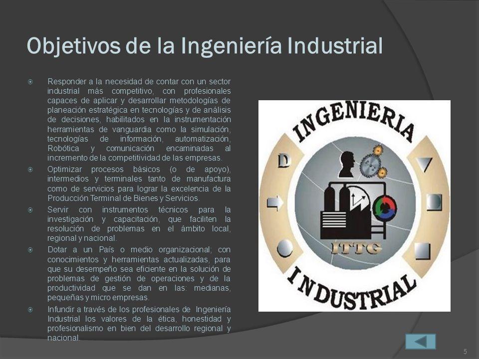 Objetivos de la Ingeniería Industrial