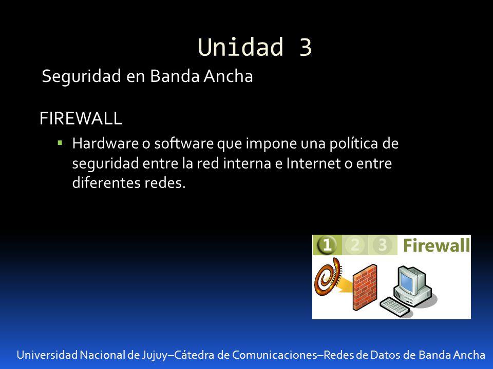 Unidad 3 Seguridad en Banda Ancha FIREWALL