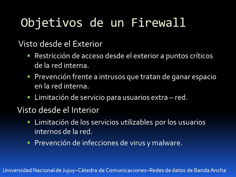 Objetivos de un Firewall
