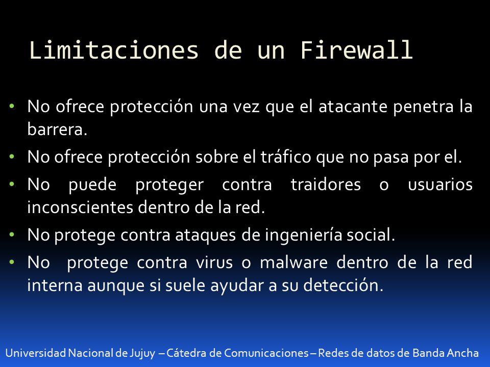 Limitaciones de un Firewall