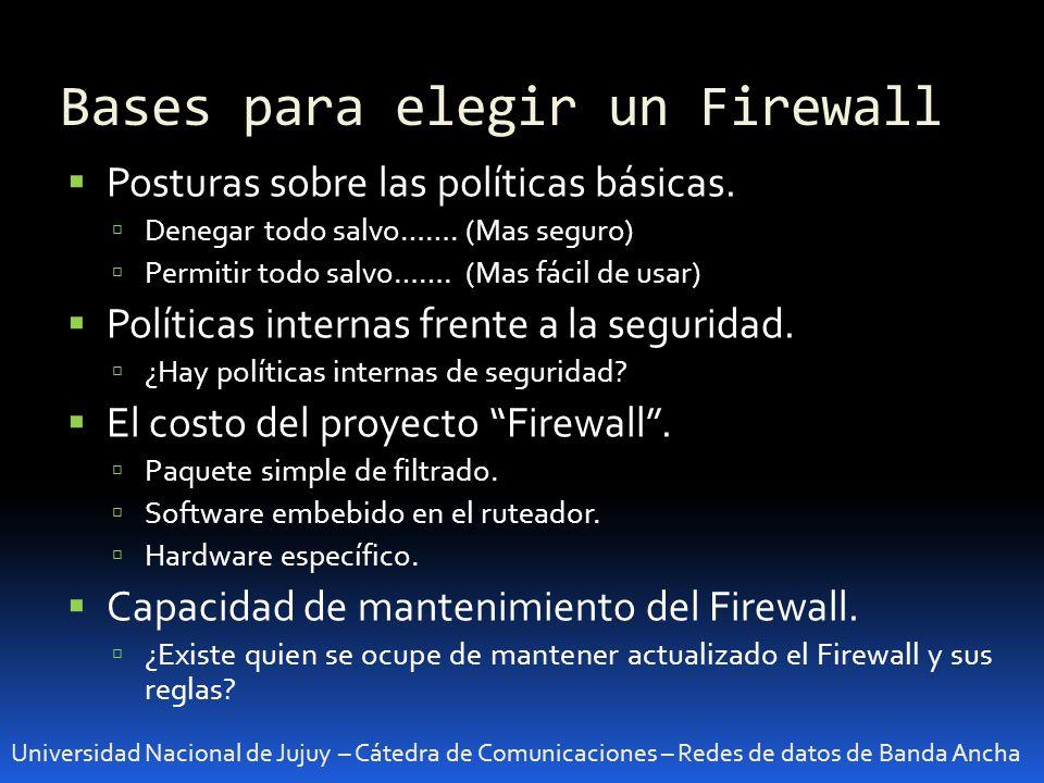 Bases para elegir un Firewall