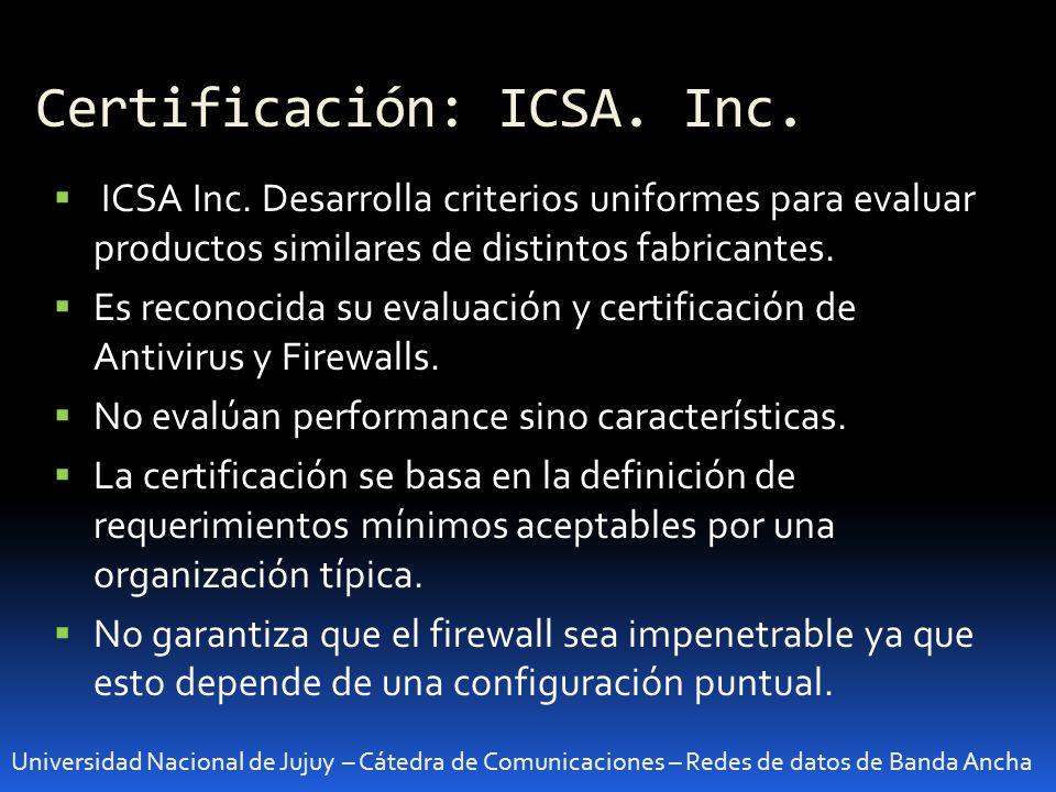 Certificación: ICSA. Inc.