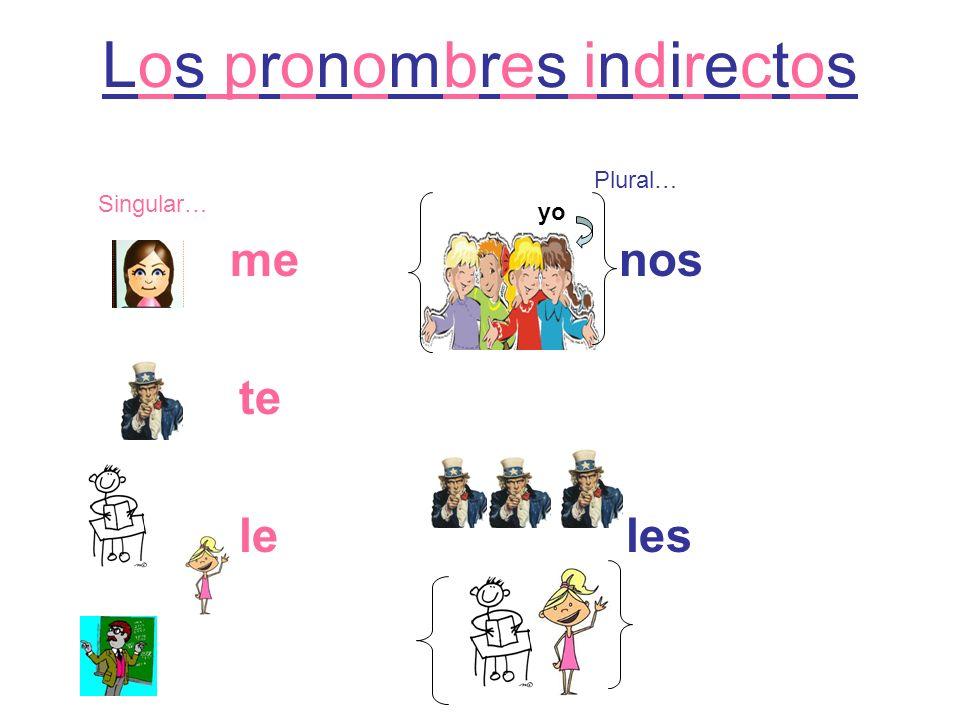 Los pronombres indirectos