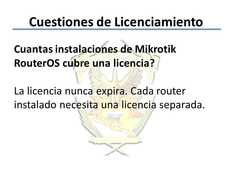 Cuestiones de Licenciamiento