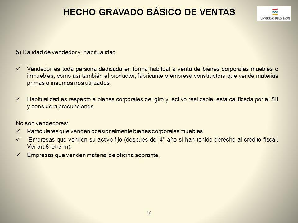HECHO GRAVADO BÁSICO DE VENTAS