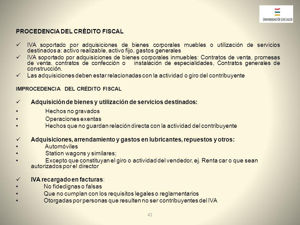 PROCEDENCIA DEL CRÉDITO FISCAL